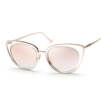Cat Eye Sunglasses In Fine Frame