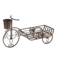 Flower Plant Holder-Cast Iron Lone Star Tricycle