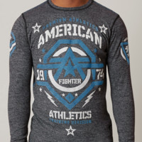 Licensed Official AMERICAN FIGHTER Mens THERMAL T-Shirt NEW MEXICO Athletic Biker Gym MMA UFC $54