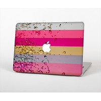 """The Pink Water Stripes Skin Set for the Apple MacBook Pro 13"""" with Retina Display"""