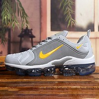 NIKE AIR VAPORMAX PLUS Fashion New Hook Print Men Sports Leisure Shoes Gray