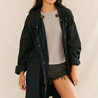 Urban Renewal Recycled Over-Dyed Fishtail Parka- Black