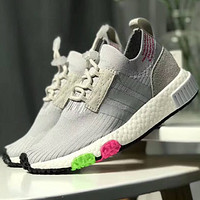 Adidas NMD RACER PK shock absorption midsole sports shoes F-CQ-YDX White