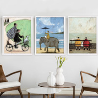 The Only Love Modern Nordic Canvas Painting Oil Poster and Print Canvas Wall Art Pictures for Living Room Home Decor No Frame