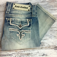 ROCK REVIVAL POSEYJ20 STRAIGHT JEANS