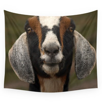 Society6 Goat Smile... Wall Tapestry