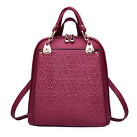 2017 Newest Design Female Bags Classic Leisure Fashion Occident Style Backpacks Solid Color Wine Red Grey Black Blue Girls Bag-in Backpacks from Luggage & Bags on Aliexpress.com   Alibaba Group