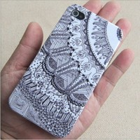 blue Tribal Hybrid hard Impact Case for iphone 4/4s