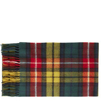 Lochcarron Lambswool Checked Scarf - Yellow