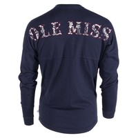 Official NCAA University of Mississippi Rebels Ole Miss Hotty Toddy Women's Long Sleeve Spirit Wear Jersey T-Shirt