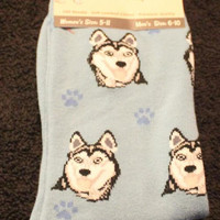 Siberian Husky Dog Breed Lightweight Stretch Cotton Adult Socks