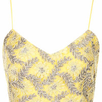 **LIMITED EDITION Silver Lace Bralet - Yellow