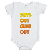 sun's out gun's out baby one-piece