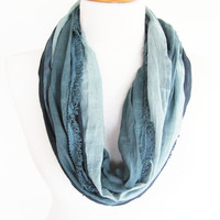 Gray Cotton Scarf, Long Scarf, Unisex Scarf, For Gift