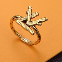 LV Louis Vuitton Hot Sale Woman Men Daisy Chic Rings Three Piece Set Accessories Jewelry