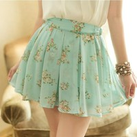 Large floral skirt high waist shorts JCHBI