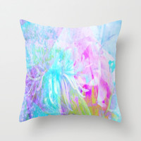 Morning Song Throw Pillow by lillianhibiscus
