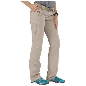 5.11 Tactical Women's Stryke Covert Cargo Pants, Stretchable, Gusseted Construction, Style 64386 0 Khaki