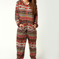 Dana Aztec Print Fairisle Brushed Knit Onesuit