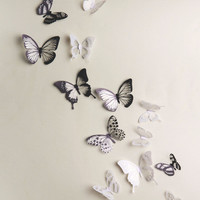 18pcs DIY 3D Butterfly Wall Stickers Art Decal PVC Butterflies Home Room Decor