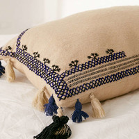 Embroidered Wool Lumbar Pillow | Urban Outfitters