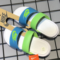 shosouvenir ❤ Nike: double straps sports slippers