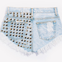 Dangers Stoner Studded Babe Shorts