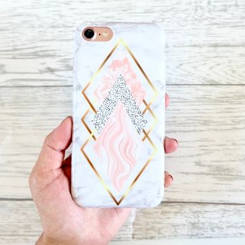 Diamond marble design silicone protective iPhone case iPhone 7 iPhone 8 case