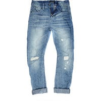 River Island Boys blue rip Chester jeans