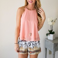I'm So Peachy Double Layered Tank