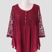 Somebody To Love Lace Blouse