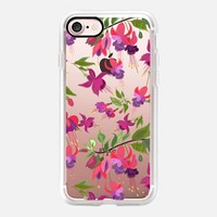 April blooms (Fuchsia) clear iPhone 7 Case by Kanika Mathur | Casetify