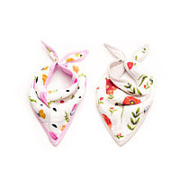 Little Unicorn Neutral 2 Pack Summer Poppy Cotton Muslin Bandana Drool Bib Set