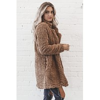 Tootsie Pop Camel Teddy Coat