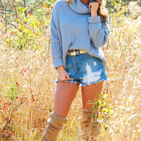 The Kristen Sweater: Powder Blue