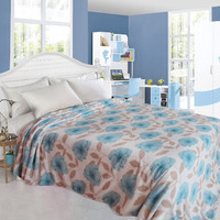 Ultra Plush Primrose Design Full Size Microplush Blanket - Blue