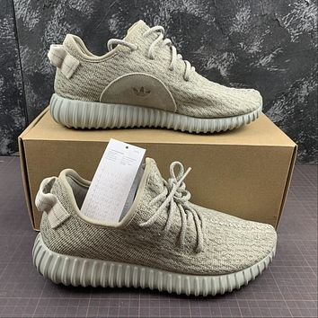 Morechoice Tuhl Adidas Yeezy Boost 350 Moonrock Hollow Running Shoes Low Sneaker Breathable Jogging Shoes Aq2660