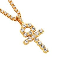 Shiny Gift New Arrival Jewelry Stylish Alloy Cross Rack Ring Necklace [10819552515]