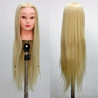 """Neverland Beauty 24"""" 100% Synthetic Long Hair Hairdressing Cosmetology Mannequin Manikin Training Head Model with Clamp"""