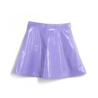 Vinyl Purple Skater Skirt