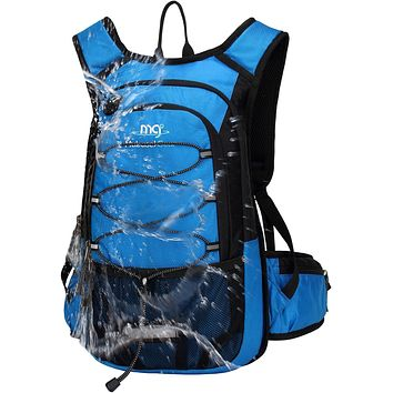 Mubasel Gear Insulated Hydration Backpack Pack with 2L BPA Free Bladder - Keeps Liquid Cool up to 4 Hours – for Running, Hiking, Cycling, Camping Blue