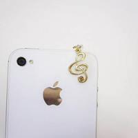 Sound of Music - Music Note Iphone Plug/ Earphone Plug - Ready to Ship Cellphone Accessories