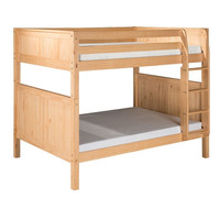 Contemporary Full over Full Bunk Bed in Natural Wood Finish