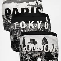 ASOS 3 Pack Trunks With City Scape Print