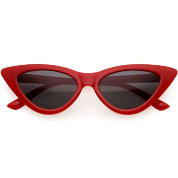 Kids Retro High Pointed Fabolous Cat Eye Sunglasses D137