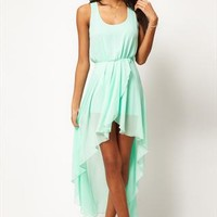 Mint chiffon Long skirt dress from cassie2013