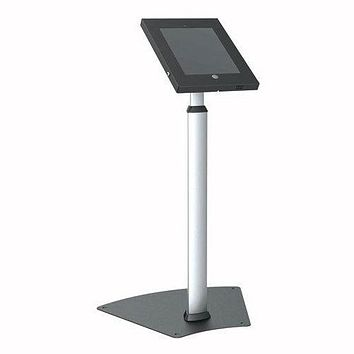 Tamper-Proof Anti-Theft iPad Kiosk Safe Security Public Floor Stand, Holder, Public Display Case with Adjustable Height & Cable Management (Compatible with iPads 2/3/4/Air)