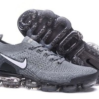 DCCK2 N335 Nike Air Vapormax Flyknit 2 Casual Running Shoes Grey White
