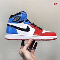 NIKE Air Jordan 1 Fashion New Women Men High Top Sports Running Shoes 1#