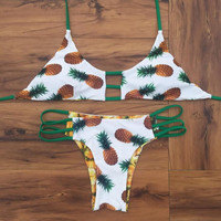 Pineapple Bikini Swimsuit Bathing Suits Swimwear